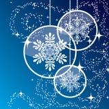 Fundo azul do Natal ilustração stock