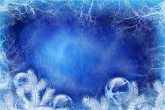 Fundo azul do Natal Fotografia de Stock Royalty Free