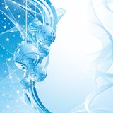 Fundo azul do Natal. ilustração stock