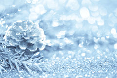Fundo azul do Natal Fotos de Stock Royalty Free