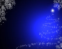 Fundo azul do Natal Imagem de Stock