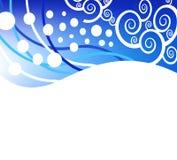 Fundo azul do Natal do vetor abstrato ilustração royalty free