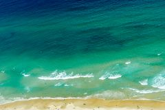 Fundo azul do oceano Foto de Stock