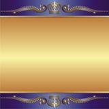 Fundo azul do ouro Fotos de Stock Royalty Free