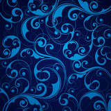 Fundo azul do scrollwork Foto de Stock