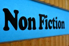 Fundo azul do sinal da não-ficção Fotos de Stock