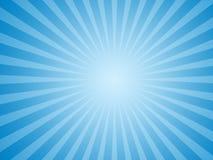 Fundo azul do sol Foto de Stock