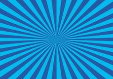 Fundo azul do starburst Fotos de Stock
