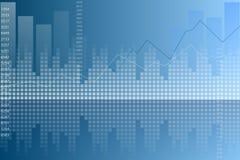 Fundo azul do sumário do gráfico Imagem de Stock Royalty Free