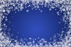 Fundo azul do sumário do inverno Imagens de Stock Royalty Free