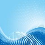 Fundo azul do teste padrão de onda ilustração stock