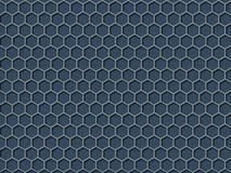 Fundo azul do teste padrão do favo de mel da cor Fotografia de Stock Royalty Free