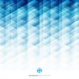 Fundo azul do teste padrão geométrico abstrato do hexágono, DES criativo Imagens de Stock