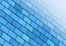 Fundo azul do tijolo ilustração do vetor