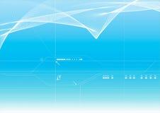Fundo azul do vetor ilustração stock