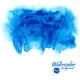Fundo azul do vetor da aquarela Fotos de Stock Royalty Free