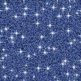 Fundo azul do vetor do brilho do brilho, teste padrão sem emenda abstrato da faísca, papel de parede de incandescência Fotografia de Stock Royalty Free