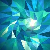 Fundo azul do vetor dos triângulos abstratos brilhantes ilustração stock