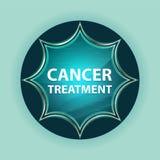 Fundo azul dos azul-céu do botão do sunburst vítreo mágico do tratamento contra o câncer ilustração royalty free