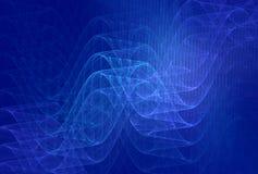 Fundo azul dos comprimentos de onda ilustração do vetor
