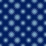 Fundo azul dos flocos de neve Fotos de Stock Royalty Free