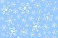 Fundo azul dos flocos de neve (vetor) Fotos de Stock