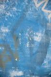 Fundo azul dos grafittis de Grunge Fotos de Stock