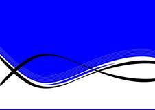 Fundo azul e branco   ilustração stock