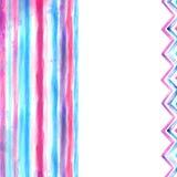 Fundo azul e cor-de-rosa da aguarela Foto de Stock Royalty Free
