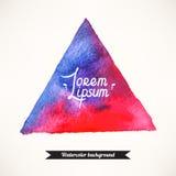Fundo azul e cor-de-rosa do triângulo Foto de Stock