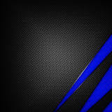 Fundo azul e preto da fibra do carbono Fotografia de Stock