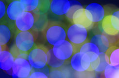 Fundo azul e verde festivo com efeito do boke Foto de Stock