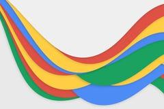 Fundo azul e vermelho do verde amarelo Foto de Stock
