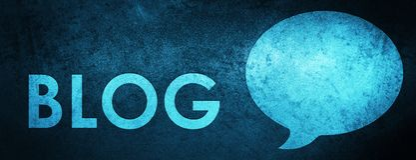 Fundo azul especial da bandeira do blogue (ícone da conversação) ilustração do vetor