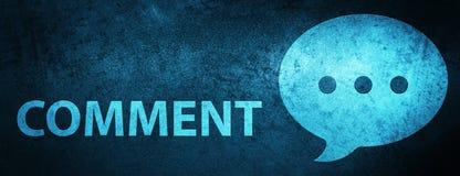 Fundo azul especial da bandeira do comentário (ícone da conversação) ilustração royalty free