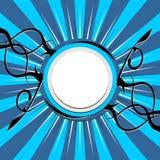 Fundo azul estrelado Imagens de Stock Royalty Free