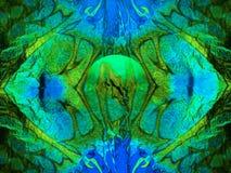 Fundo azul esverdeado abstrato Foto de Stock