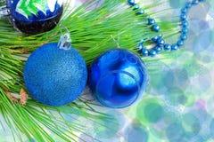 Fundo azul esverdeado do ano novo Fotografia de Stock Royalty Free