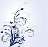 Fundo azul floral Imagens de Stock Royalty Free