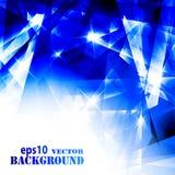 Fundo azul futurista abstrato Imagens de Stock Royalty Free