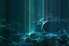 Fundo azul futurista abstrato Fotos de Stock