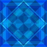 Fundo azul geométrico Foto de Stock