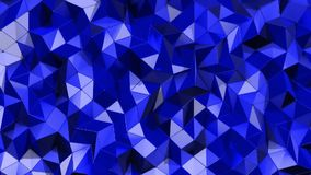 Fundo azul geométrico Os triângulos bonitos modelam a ondulação em uma maneira elegante e dinâmica Tom azul vívido Conceito agrad video estoque