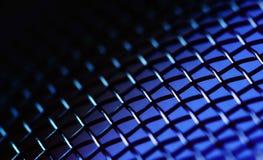 Fundo metálico azul Imagens de Stock