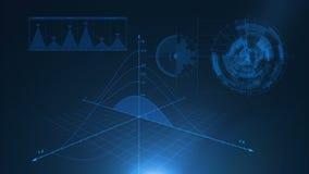 Fundo azul gráfico video estoque