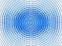 Fundo azul hipnótico abstrato Imagem de Stock