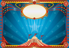 Fundo azul horizontal do circo Imagens de Stock Royalty Free