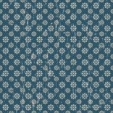 Fundo azul sem emenda do teste padrão de flor do vintage Fotos de Stock Royalty Free