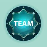 Fundo azul sunburst vítreo mágico dos azul-céu do botão da equipe foto de stock royalty free