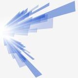 Fundo azul tecnológico ilustração royalty free